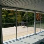 Horizontal vinyl sliding doors