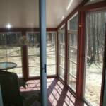 Inside view of 4 track vinyl sliding windows